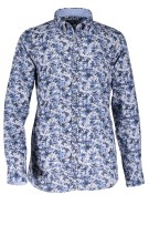 State of Art stretch shirt blauw print
