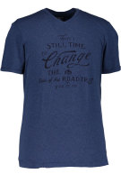 State of Art T-shirt Donkerblauw Print Wijde fit