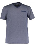 State of Art t-shirt met v-hals en borstzak navy