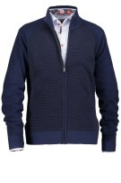 State of Art vest navy met rits