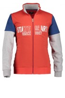 State of Art Vest Rood Donkerblauw Print Wijde fit