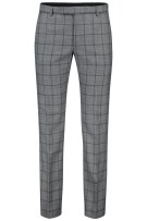 Strellson Pantalon mix & match Grijs Geruit Slim fit