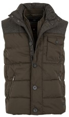 Superdry bodywarmer tech tweed groen