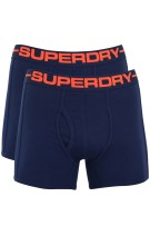 Superdry boxershorts donkerblauw 2-pack