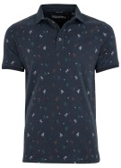 Superdry City polo donkerblauw motief