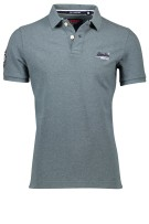 Superdry classic polo groen melange