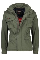 Superdry Jas Groen Effen Slim fit