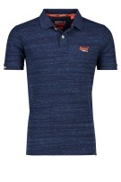 Superdry Polo Shirt Donkerblauw Gemêleerd Slim fit