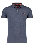 Superdry Polo Shirt Donkerblauw Gestreept Slim fit