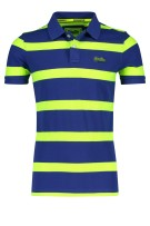 Superdry Polo Shirt Donkerblauw Groen Gestreept Slim fit