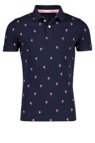 Superdry Polo Shirt Donkerblauw Print Slim fit