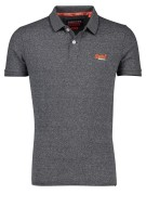 Superdry Polo Shirt Grijs Gemêleerd Slim fit