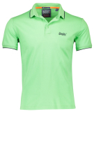 Superdry Polo Shirt Groen Effen Slim fit