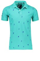 Superdry Polo Shirt Groen Print Normale fit
