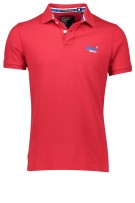 Superdry Polo Shirt Rood Effen Slim fit