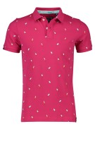 Superdry Polo Shirt Roze Print Slim fit