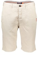 Superdry Short Beige Ecru Effen Slim fit