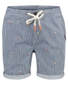 Superdry Short Blauw Gestreept Print Slim fit