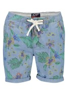 Superdry Short Groen Blauw Print Slanke fit