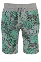 Superdry Short Groen Grijs Print Slanke fit