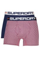 Superdry sport boxers navy rood duo pack