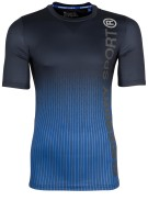 Superdry Sports t-shirt Dissolve Cobalt print