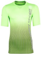 Superdry Sports t-shirt Dissolve Lime Print