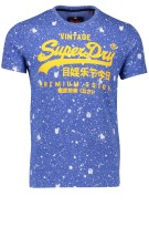 Superdry T-shirt Blauw Print Slim fit