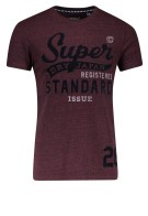 Superdry T-shirt Bordeaux Print Gemêleerd Slim fit