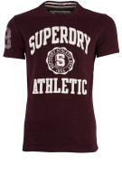 Superdry t-shirt dark burgundy