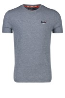 Superdry T-shirt Donkerblauw Gemêleerd Slim fit