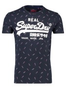 Superdry T-shirt Donkerblauw Print Slim fit