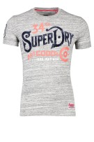 Superdry T-shirt Grijs Gemêleerd Slim fit