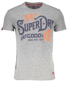 Superdry T-shirt Grijs Print Gemêleerd Slim fit