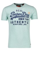 Superdry T-shirt Groen Effen Print Slim fit