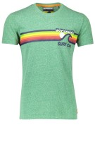Superdry T-shirt Groen Print Gemêleerd Slim fit