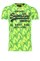 Superdry T-shirt Groen Print Slim fit