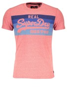 Superdry T-shirt Rood Print Gemêleerd Slim fit