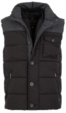 Superdry tech tweed bodywarmer zwart