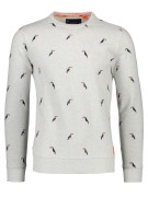 Superdry Trui Grijs Print Slim fit