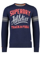 Superdry trui print donkerblauw ronde hals