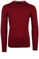 Superdry Trui Rood Bordeaux Effen Gemêleerd Slim fit