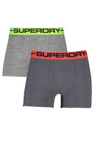 Superdry two-pack boxers grijs gestreept