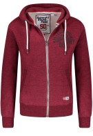 Superdry Vest Rood Bordeaux Effen Gemêleerd Slim fit