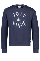 Sweater Blue Industry navy ronde hals