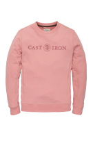 Sweater Cast Iron roze met logo