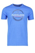 T-shirt New Zealand met ronde hals blauw