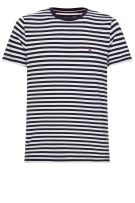 T-shirt Tommy Big & Tall navy wit  gestreept