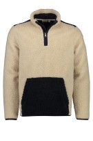 Teddy fleece trui Napapijri beige navy