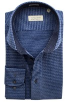 Thomas Maine Overhemd Blauw Print Slim fit